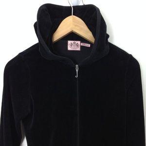 Juicy Couture Black M Women Full Zip Hoodie Jacket